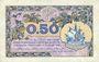 Banknoten Paris (75). Chambre de Commerce. Billet. 50 centimes 10.3.1920, série A.29