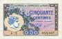 Banknoten Paris (75). Chambre de Commerce. Billet. 50 centimes 10.3.1920, série A.2