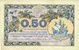 Banknoten Paris (75). Chambre de Commerce. Billet. 50 centimes 10.3.1920, série A.58