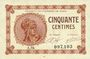 Banknoten Paris (75). Chambre de Commerce. Billet. 50 centimes 10.3.1920, série A.94