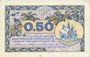 Banknoten Paris (75). Chambre de Commerce. Billet. 50 centimes 10.3.1920, série B.13