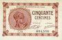 Banknoten Paris (75). Chambre de Commerce. Billet. 50 centimes 10.3.1920, série C.14