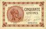 Banknoten Paris (75). Chambre de Commerce. Billet. 50 centimes 10.3.1920, série D.15