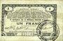 Banknoten Pas de Calais, Somme et Nord, Groupement de 70 communes. Billet. 1 franc 23.4.1915 série 2A