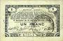 Banknoten Pas de Calais, Somme et Nord, Groupement de 70 communes. Billet. 1 franc 23.4.1915 série 2D