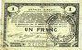 Banknoten Pas de Calais, Somme et Nord, Groupement de 70 communes. Billet. 1 franc 23.4.1915 série 2G