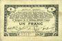 Banknoten Pas de Calais, Somme et Nord, Groupement de 70 communes. Billet. 1 franc 23.4.1915 série 2H