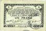 Banknoten Pas de Calais, Somme et Nord, Groupement de 70 communes. Billet. 1 franc 23.4.1915 série 2L