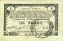 Banknoten Pas de Calais, Somme et Nord, Groupement de 70 communes. Billet. 1 franc 23.4.1915 série 2M