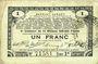 Banknoten Pas de Calais, Somme et Nord, Groupement de 70 communes. Billet. 1 franc 23.4.1915 série 2R