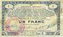 Banknoten Pas de Calais, Somme et Nord, Groupement de 70 communes. Billet. 1 franc  23.4.1915 série 3