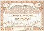Banknoten Pas de Calais, Somme et Nord, Groupement de 70 communes. Billet. 10 francs  23.4.1915 série 5