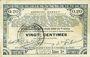 Banknoten Pas de Calais, Somme et Nord, Groupement de 70 communes. Billet. 20 centimes 23.4.1915 série 1A