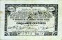 Banknoten Pas de Calais, Somme et Nord, Groupement de 70 communes. Billet. 50 centimes 23.4.1915 série 1J
