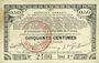 Banknoten Pas de Calais, Somme et Nord, Groupement de 70 communes. Billet. 50 centimes 23.4.1915 série 2A