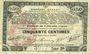 Banknoten Pas de Calais, Somme et Nord, Groupement de 70 communes. Billet. 50 centimes 23.4.1915 série 2B