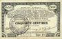 Banknoten Pas de Calais, Somme et Nord, Groupement de 70 communes. Billet. 50 centimes 23.4.1915 série 2C