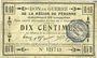 Banknoten Péronne (80). Bon de guerre de la Région de Péronne. Billet. 10 centimes 2.9.1915