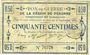 Banknoten Péronne (80). Bon de guerre de la Région de Péronne. Billet. 50 centimes 2.9.1915