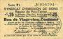 Banknoten Poix-Terron (08). Syndicat d'Emission. Billet. 25 centimes, 2e émission, mai 1917, série F1