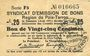 Banknoten Poix-Terron (08). Syndicat d'Emission. Billet. 25 centimes, 3e émission, août 1917, série F5