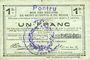 Banknoten Pontru (02). Billet. S.Q.G., 1 franc 8.8.1916