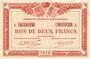Banknoten Quimper & Brest (29). Chambres de Commerce. Billets. 2 francs 1915, série A