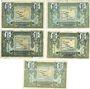 Banknoten Région Provençale (13). Billets. 1 franc, série R23, R31, R41, R44 et R11 2e tirage