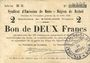 Banknoten Rethel (08). Syndicat d'Emission. Billet. 2 francs 12.7.1916, série B 3