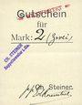 Banknoten Ribeauvillé (Rappoltsweiler) (68). Ch. Steiner. Billet, carton. G de Gutschein enroulé. 1 mark
