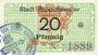 Banknoten Ribeauvillé (Rappoltsweiler) (68). Ville. Billet. 20 pfennig (1917)