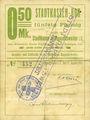 Banknoten Ribeauvillé (Rappoltsweiler) (68). Ville. Billet, carton. 0,50 mark. Annulation à l'avers par cachet