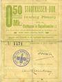 Banknoten Ribeauvillé (Rappoltsweiler) (68). Ville. Billet, carton. 0,50 mark. Annulation au revers par cachet