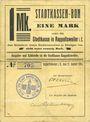 Banknoten Ribeauvillé (Rappoltsweiler) (68). Ville. Billet, carton. 1 mark. Non annulé