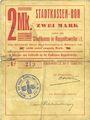 Banknoten Ribeauvillé (Rappoltsweiler) (68). Ville. Billet, carton. 2 mark. Non annulé