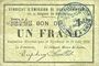 Banknoten Rimogne (08). Syndicat d'Emission. Billet. 1 franc 30.6.1916, série H 2
