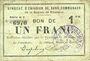 Banknoten Rimogne (08). Syndicat d'Emission. Billet. 1 franc 30.6.1916, série H 3