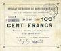 Banknoten Rimogne (08). Syndicat d'Emission. Billet. 100 francs 26.4.1917, série N
