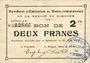 Banknoten Rimogne (08). Syndicat d'Emission. Billet. 2 francs 30.6.1916, série J 2