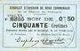 Banknoten Rimogne (08). Syndicat d'Emission. Billet. 50 centimes 26.4.1917, série T1