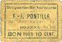 Banknoten Roanne (42). Droguerie F. - J. Pontille. Billet. 10 centimes. Inédit !