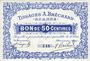 Banknoten Roanne (42). Tissages A. Bréchard. Billet. 50 centimes, n° 149
