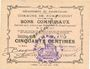 Banknoten Rumaucourt (62). Commune. Billet. 50 centimes 16.8.1915, mention Annulé manuscrite