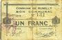 Banknoten Rumilly (59). Commune. Billet. 1 franc, 28.11.1915, 1ère série