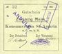 Banknoten Saint-Amarin. Konsumverein. Billet. 20 mark (22.9.1914). Signatures. : L. Vuillard et Eug Kühner