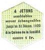 Banknoten Saint-Etienne (42). Chaléassière. Société des Moteurs. Billet. 25 centimes 31.12.1920