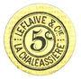 Banknoten Saint-Etienne (42). La Chaléassière. Le Flaive et Cie. Billet. 5 centimes 31.12.1917
