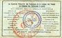 Banknoten Sénones (88). Syndicat Financier des Communes de la Liaison des Vosges. Billet 50 centimes 14.8.1916