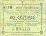 Banknoten Solesmes (59). Bons de la Région. Billet. 10 centimes, 4e émission