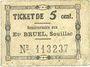 Banknoten Souillac (46). Etablissements Bruel. Billet. 5 centimes